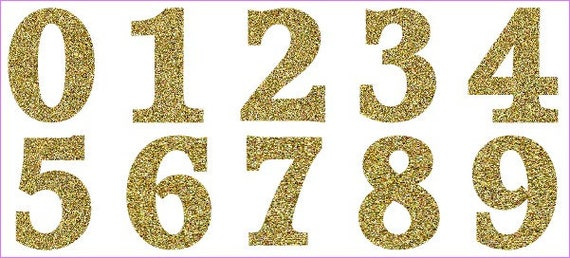 Die Cut Glitter Numbers X 18 Large 0 9 Available In 19