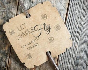 Sparkler Send Off Tags Personalized Wedding Favor