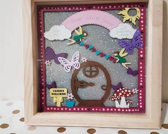 Fairy Scene Frame 1st Birthday Gifts Christening Gifts for Girls Personalised Baby Gifts Baby shower Gifts New Baby Gifts Baby Girl Gifts
