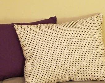 Playful purple two-tone pillows