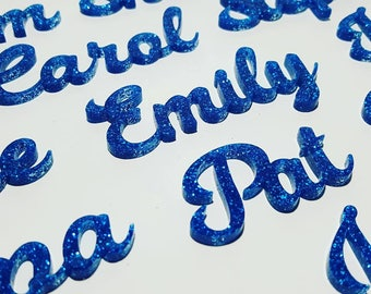 Wedding Table Place Names (glitter acrylic)