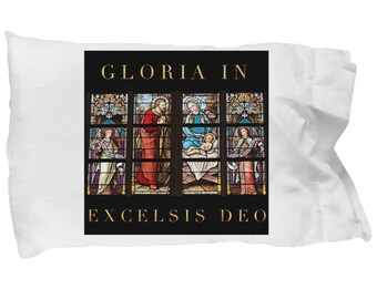 Religious Christmas Gift! Unique Gift Idea! Beautiful Stained Glass Nativity Scene PillowCase! Super Comfortable MICROFIBER!