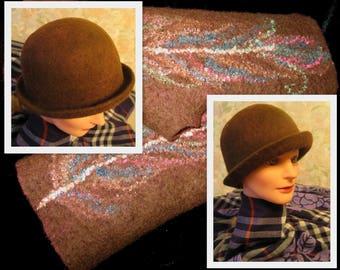 The hat felted. Hat felt. The author felt. Clothing made of felt, handmade. Hats. Шляпка валяная. Войлок ручной работы. Одежда для женщин.