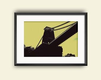 Clifton Suspension Bridge, Bristol, UK Graphic Photo Print (Original)