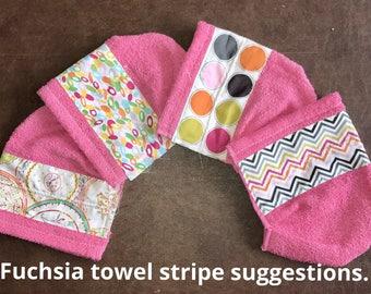 Children's Fuchsia Hooded Towel