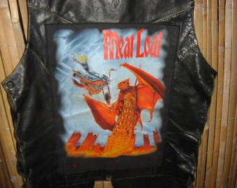 Biker Vest with cult patch genuine leather