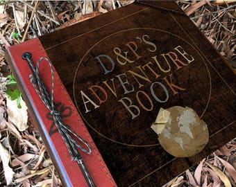 Custom Initials Adventure Book Handmade and Personalized