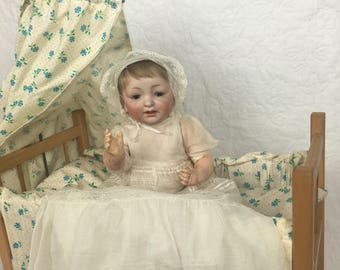 Antique German Bisque Character Baby 211 by Kestner