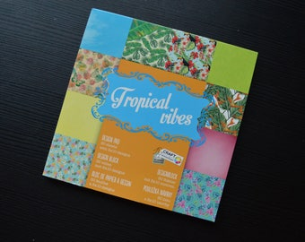 Tropical scrapbook paper, 30 sheets