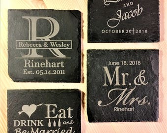 100+ ct Slate Wedding Coaster Favors