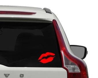 Kiss Lips Decal Sticker