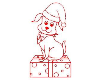 Digi-tizers Christmas Puppy Presents  (SVG Studio V3 JPG)
