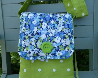 Lovely hand made soft fabric cross body/ Shoulder bag.