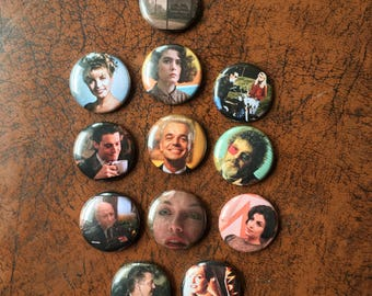 "TWIN PEAKS #2 inspired 1"" Button/Badge Set!"