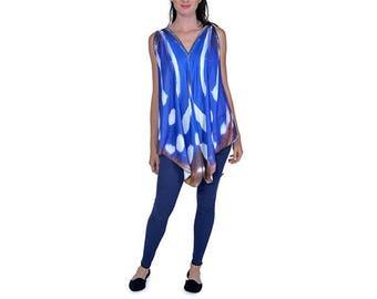 Blue Batik Butterfly Tunic