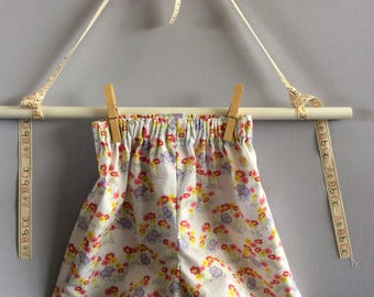 Cotton shorts for 2 year old. Pretty print fabric.