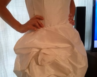 White strapless cocktail dress