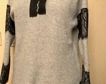 Grey color crew neck sweater