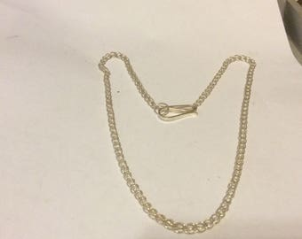 Chain fine silver sterling clasp