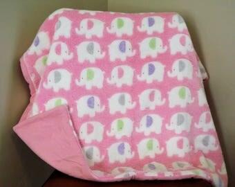Pink Baby Elephant Blanket