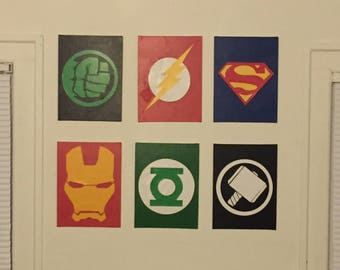 Ordinaire Superhero Wall Decor