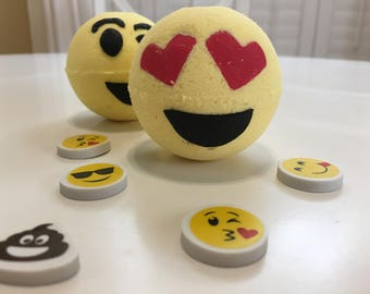 Emoji Banana Bath Bomb with a surprise inside