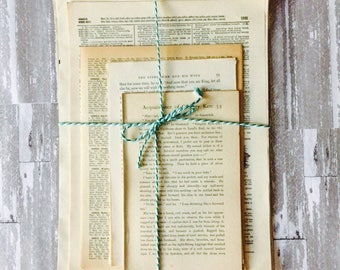 Vintage Scrapbooking Paper ~ Vintage Book Pages ~ Vintage Dictionary Pages ~ Decoupage Paper ~ Great for Invitations or Crafts Pack of 50
