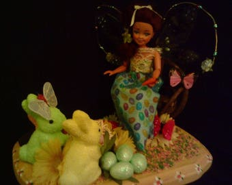 """OOAK Easter Doll name """"Jelli Beane"""" Candy of the month doll Jelly Beans."""