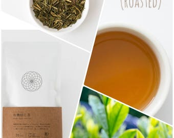 Organic Houjicha Roasted Green tea, Loose leaf, from Japan