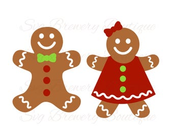 Gingerbread, Christmas, Ginger bread, SVG, PNG, DXF for cricut, silhouette studio, cut file, cutting machine, vinyl decal, t shirt design