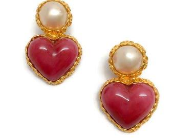 Vintage 1980's Pearl Drop Earrings by Chanel
