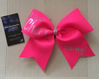 """Clearance """"It's a Cheer Thing"""" Cheer/Hair Bow"""