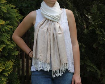 Scarf Shawls  Cashmere / Cotton hippie boho long scarf ladies