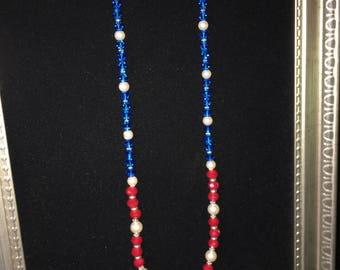 Exquisite patriotic necklace