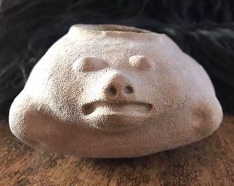 Prehistoric Native American Pot with Face
