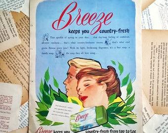 vintage Advertising page ephemera 1950s