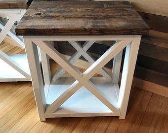 Farmhouse Style End Table