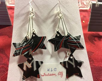 """Monster Cherry Earrings """"Up-Cycled"""""""