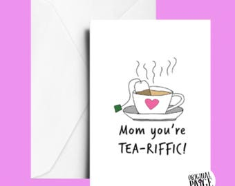 Teariffic Mother's Day card