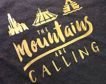 The Moutains are Calling- Tee/Tank