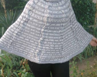 Hand knitted sweater poncho NEW Hand Knit Soft and warm poncho