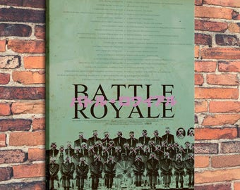 Movie Posters for Battle Royale low Art Print on Canvas Home Wall Decor