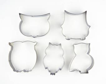 Owl Cookie Cutters- Animal Fondant Biscuit Mold - Pastry Baking Tool Set