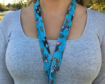Tom and jerry lanyard, tom and jerry key chain, mens gift, womens gift