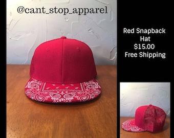 Red,  Black and Grey & Black Rag Snapback Hats