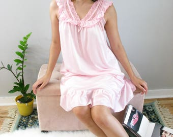 Vintage Pale Pink Nightgown 60s
