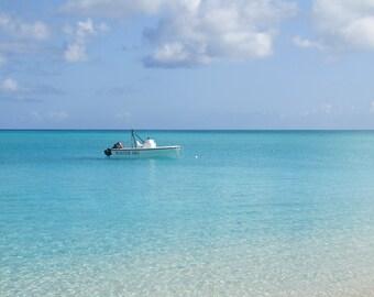 Beach Photography Bahamas Beach Photo Beach Photo Print Water Ski Turquoise Water Caribbean Island Photography Turquoise Water Nautical