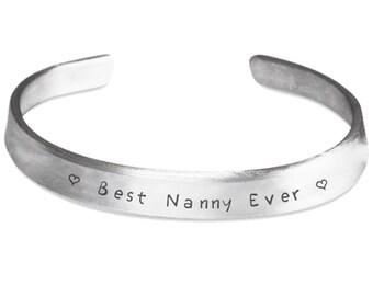 Nanny Bracelet - Nanny Gift - Nanny Jewelry - Best Nanny Ever - Babysitter Gift - Nanny Gift From Kids - Thank You Gift