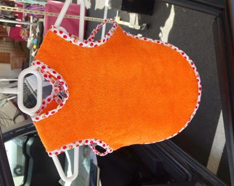 orange small bib for baby
