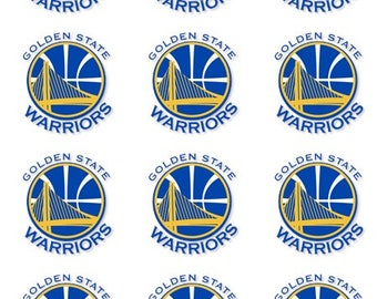 Golden State Warriors Edible Cake Cupcake Cookie Toppers